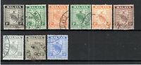 Malaysia - Negri Sembilan 1935-41 values to 8c + 15c FU CDS