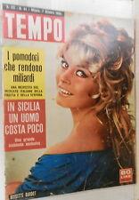 TEMPO 7 Ottobre 1958 Brigitte Bardot Rodolfo Arata Monroe Rudolf Hess Taglioni