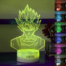 Dragon Ball Z Saiyan Son 3D Acrilico LED Luce Notturna Scrivania Lampade Regalo