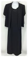 Positive Attitude Embellished Dress & Jacket Size 8 Black Sleeveless Dress