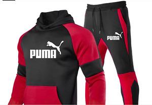 Men Hoodie And Pants Suit Outerwear Pullover Cappuccio Fleece Pants Cotton 2 Pie