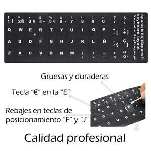 Desde Madrid Pegatina Real Sticker para Repuesto Teclado Español Pegatina Pro...