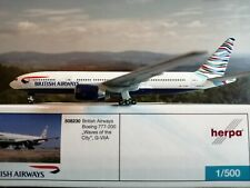"Herpa Wings BRITISH AIRWAYS B777-200 ""WAVES OF THE CITY"" 508230 