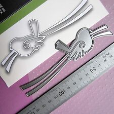 POPPYSTAMPS DiE ~ SWiRLY BiRD RiBBON  ~ THiN 140X38mm CUTTiNG DiE ~ UNPACKAGED ~