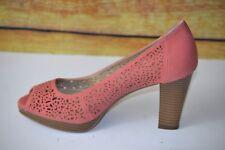 Giani Bernini Harpur Womens Peep Toe Heels Shoes Pink Lace Cutwork  Size 8.5M