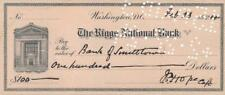 RAF Captain Jack Hope- Signed Bank Check from 1924