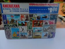 "Vintage Harris Stamp Packet ""20 Postal Tributes to US by Foreign Countries""C-714"