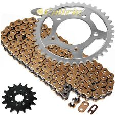 Gold O-Ring Drive Chain & Sprockets Kit Fits SUZUKI GS500E 1989-2000