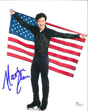 NATHAN CHEN SIGNED 8X10 PHOTO 4 JSA 2018 OLYMPICS FIGURE SKATING PYEONGCHANG USA