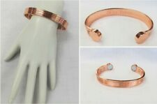 Pure Copper Magnetic Unisex Cuff Bangle Bracelet Healing Magnetic Copper Jewelry