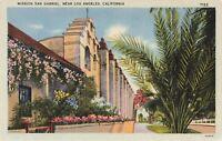 Postcard Mission San Gabriel Los Angeles California
