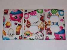 Shopkins Design Light Switch Plate and 2 Outlet Covers