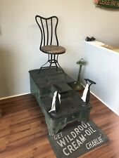 Antique Shoe Shine Station / Stand / Chair -