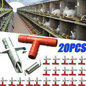 20Pcs Farm Nipple Drinker Rabbit Drinker Rodent Automatic Water Drinker Feeder