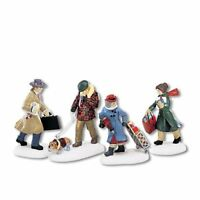 Department 56 Christmas in the City Busy City Sidewalks, Set of 4 (56.58955)