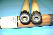 Vintage Huebler 4 Point Cue with 2 Shafts Very Good Condition Laser Straight