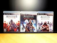 ASSASSIN'S CREED & ASSASSIN'S CREED REVELATIONS & BROTHERHOOD PS3 Playstation 3