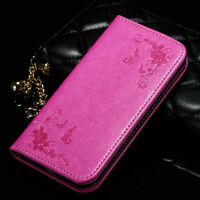 Leather Flip Wallet Case Card Slot Cover Magnetic Pouch Stand Holder With Strap