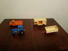 matchbox Farm Lot Ford Tractor Ford Transit Horse Box Trailer