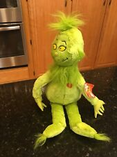 """Dr. Seuss How the Grinch Stole Christmas With Heart Plush 21"""" Kohl's Cares NWT"""