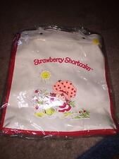 1980 Strawberry Shortcake Canvas Carry All Tote Bag With Hang Tag