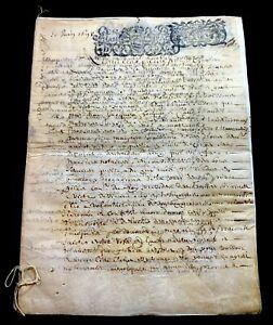 ANTIQUE PARCHMENT 1698  8 pages