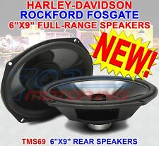 ROCKFORD FOSGATE TMS69 POWER MOTORCYCLE 6x9 FULL RANGE BAG LID 200 WATT SPEAKERS