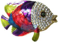 Colorful Tropical Fish Crystals Jewel Jewellery Jewelry Trinket Metal Gift Box