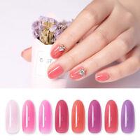 Harunouta 12ml Jelly Gel Polish Pink Purple Soak Off UV Gel Nail Art Varnish