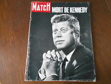PARIS MATCH  N° 764 30 Novembre 1963  MORT de KENNEDY