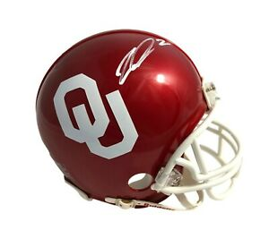 CeeDee Lamb Signed Oklahoma Sooners Red Mini Helmet JSA Autograph Dallas Cowboys