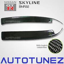 Carbon Fiber Car Eyelid Eyebrow For Nissan Skyline R32 GTR GTS Black Nismo AT