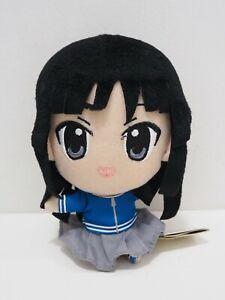 """K-On! Mio Akiyama Banpresto 2011 Plush TAG 6"""" Toy Doll japan"""