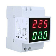Din-Rail AC 110V/220V Digital Voltmeter Ammeter Volt Amp Meter LED Display HY