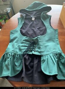 Corset Women's L, skirted with hood Hunter Green valued at $60, you pay $25!!