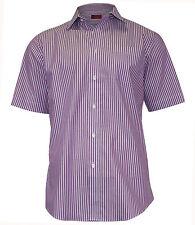 Gestreifte Kurzarm Herren-Freizeithemden aus Baumwolle