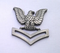 U. S. NAVY PETTY OFFICER 2ND CLASS  Military Rank Pin P10152 EE