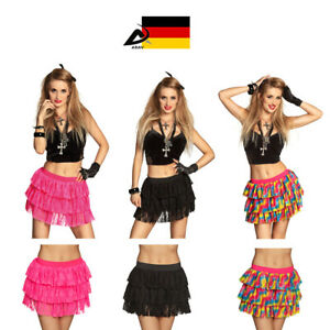Sexy Petticoat Minirock Unter Rock Faschingskostüm Tütü Karneval Tüll Rock