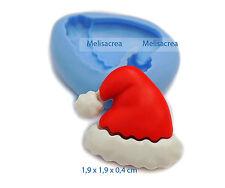 Moule Silicone Bonnet 1 du Père-Noël - Fimo, résine, porcelaine froide, amande..