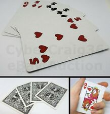 QUEENS TO FIVES 5 CHANGE 4 CARD MAGIC TRICK HEARTS DIAMONDS SPADES CLUBS NEW WOW