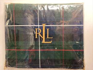 NEW Ralph Lauren KING Bedskirt MILLBROOK Tartan Navy Green Plaid