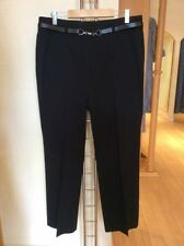 Straight Leg Polyester Plus Size Tailored Trousers for Women
