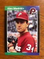 1989 Donruss ALEX MADRID Phillies Baseball Card #604 - eBay's Hottest ERROR Card