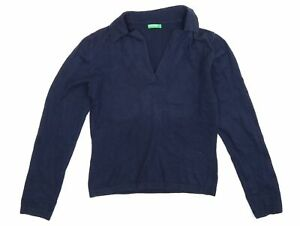 United Colors of Benetton Womens Blue  Knit Pullover Jumper Size S