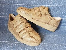 Lady Women Lofters Remonte Beige Leathers Comfortable Snickers Trainers UK 5.5