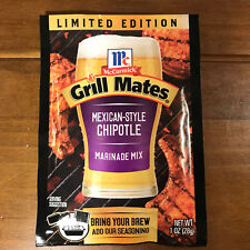 3 Packs McCormick Grill Mates Mexican-Style Chipotle Marinade Mix 1 oz Each