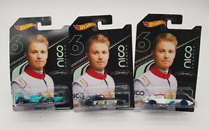 Hot Wheels Nico Rosberg  F1 RACER 1/3 2/3 3/3 Formula   # NEU