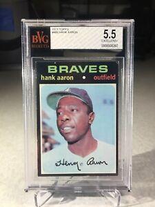 1971 Topps Hank Aaron #400 - BVG 5.5 - Atlanta Braves