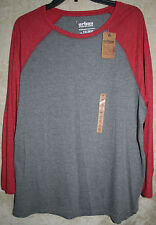 NWT Urban PIPELINE long sleeve Crew Tee shirt Gray Apple XXL super soft mens