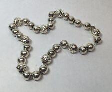 """Anklet Ankle Bracelet 8.5"""" Ladies Vintage Sterling Silver Ball Bead Link"""